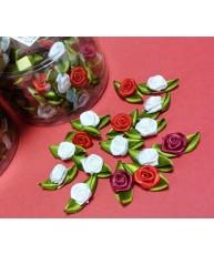 """Flores De Tela Adhesivas """"Mini Rosellini"""""""