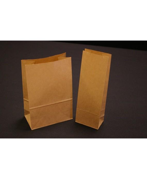 Bolsa de papel, con base rectangular, kraft .