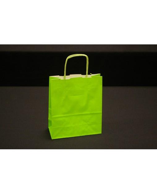Bolsa de papel con asa retorcida, color Morado