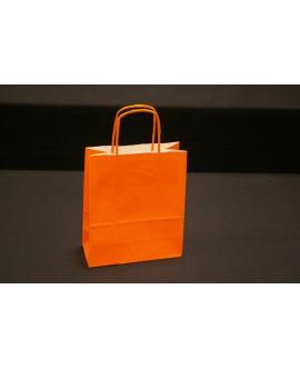 Bolsa de papel con asa retorcida, color Naranja