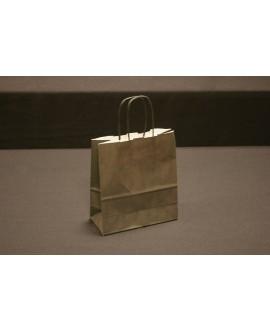 Bolsa de papel con asa retorcida, color Negro.