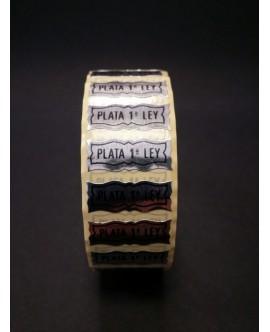 """Etiquetas adhesivas """"Plata 1ª Ley"""""""
